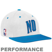 adidas New Orleans Hornets White-Light Blue Official On-Court Performance Flex Fit Hat