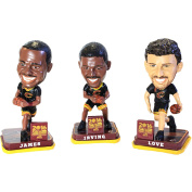 Official 2016 Cleveland Cavaliers 3 Pack NBA Finals Mini Basketball Bobbleheads