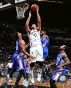 Brook Lopez Brooklyn Nets 2015-2016 NBA Action Photo (Size