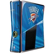 NBA Oklahoma City Thunder Xbox 360 Slim (2010) Skin - Oklahoma City Thunder Blue Jersey Vinyl Decal Skin For Your Xbox 360 Slim