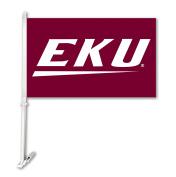 NCAA Eastern Kentucky Colonels Unisex NCAA Car Flag with Wall Bracket, Maroon, One Size