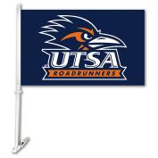 NCAA Texas San Antonio Roadrunners Unisex NCAA Car Flag with Wall Bracket, Navy, One Size