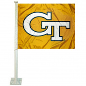 Georgia Tech Yellow Jackets Gold Car Flag