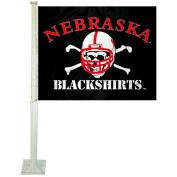 Nebraska Cornhuskers Blackshirts Car Flag