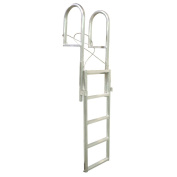 Dock Edge + 5 Step Slide Up Dock Ladder - Metallic