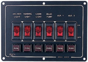 6 Gang Fused Switch Panel
