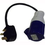 Waveline Hook-Up Adaptor. 16amp Plug to Standard 3 Pin Socket