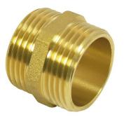 Double thread with external thread 1.9cm brass