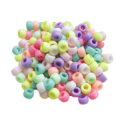 Schoolsupplies 100pcs Acrylic Round Rubber Spacer Beads Mixed Colour DIY Jewellery Making