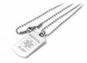 Personalised Medical Alert I-C-E / SOS Dog Tag Necklace / Pendant - Engraved