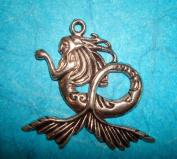 Mermaid Pendant Charm 42mm Sea Siren Charm Sea Animal Water Elf Fairy Nympy