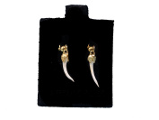 Pair of Rattlesnake Fang Earrings