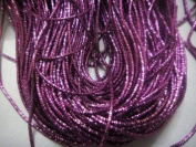 DARK ANTIQUE ROSE PINK - 380cm French Metal Wire Gimp Coil Bullion Purl - Cheque Rough - 3.80 Metres
