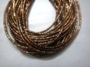 DARK ANTIQUE COPPER - 380cm French Metal Wire Gimp Coil Bullion Purl - Cheque Rough - 3.80 Metres