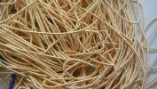 MEDIUM GOLD MATT - 380cm French Metal Wire Gimp Coil Bullion Purl - Smooth Regular - 3.80 Metres