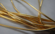 DARK GOLD - 380cm French Metal Wire Gimp Coil Bullion Purl - Smooth Regular - 3.80 Metres