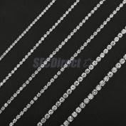 Diamante Rhinestone Chain Jewellery Pendant DIY Apparel Craft Decor 0.2cm