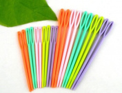 "20Pcs Gift 2 3/4"" , 3 3/4\"" Multicolor Plastic Sewing Needles"