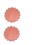 Set of 2 pcs Leather Rosette Conchos 2″