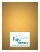 Accent Design Paper Accents ADP8511-25.877 No.80 22cm x 28cm Gold Paper Pearlized Card Stock