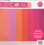 Craft Smith 30cm Paper Pad textured Pinks & Corals