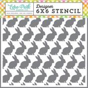 Echo Park Paper Company CE121033 Easter Rabbit Stencil