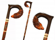 FOX Cane Walking Stick Wooden Handmade Men's Accessories Good Christmas