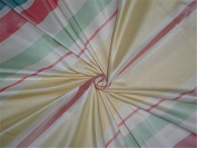100 % SILK TAFFETA PASTEL COLOUR STRIPE 140cm