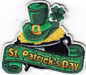 """ST. PATRICK'S DAY"" - IRISH - HOLIIDAY - CELEBRATION - ron On Embroidered Patch"