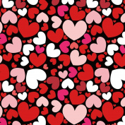 Romantic Love on Black Background Wrapping Paper - 12m Roll