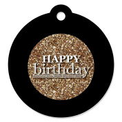 Adult Happy Birthday - Gold - Birthday Party Favour Gift Tags