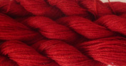 Easy Care Machine Wash Cranberry Red Fingering / lace Weight Crochet / Knitting Yarn