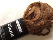 S Charles Diana Metallic Ribbon Yarn #3 Bronze Star 50 Gramme 0.6cm x 63yds