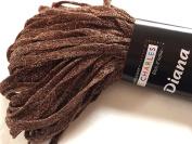 S Charles Diana Metallic Ribbon Yarn #4 Copper Canyon 50 Gramme 0.6cm x 63yds