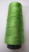 LIME GREEN - 275+ Yards - Viscose Rayon Art Silk Thread Yarn - Embroidery Crochet Knitting Lace Jewellery Trim