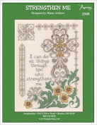 Strengthen Me Cross Stitch Kit - 14ct Natural Aida and FREE Embellishment