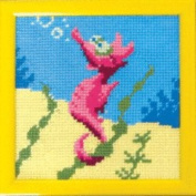 Embroidery Counted cross stitch kit Charivna mit #RT-316 Hippocampus Walk on the bottom of the ocean Joy 15x15 cm / 5.91x5.91 in