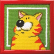 Embroidery Counted cross stitch kit Charivna mit #RT-304 Cat portrait Happy Smile Cute 15x15 cm / 5.91x5.91 in
