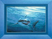 Embroidery Counted cross stitch kit Charivna mit #472 Underwater shark in the ocean 27x18 cm / 10.63x7.09 in