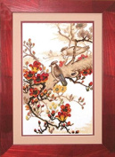 Embroidery Counted cross stitch kit Charivna mit #443 Birds Flowers Tree 21.5x34.5 cm /8.27x13.39 in