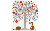 Love Winter Cross Stitch Kit by Bothy Threads