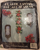 """Plastic Canvas for All Seasons """"Poinsettia Bell Pull"""""""