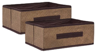 Essential Collapsible Storage Containers, Brown (2 Containers)