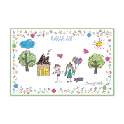 Jacks and Triangles Personalised Kid's Colouring Placemats