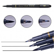 3Pcs Chinese Japanese Calligraphy Brush Pen Set S/M/L