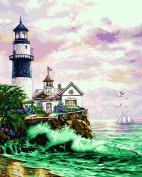 Plaid Creates Paint by Number Kit (41cm by 50cm ), 59778 Lighthouse PT