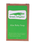 Celadon Road Green Alligator Aloe Baby Soap - Organic Ingredients and Essential Oils -Safe Gentle and Non-toxic - 100ml - Made in USA