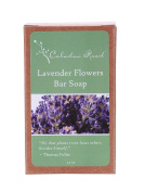 Celadon Road Lavender Flowers Soap - Organic Nourishing Ingredients and Essential Oils -Safe Gentle and Non-toxic - 100ml - Made in USA