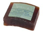 Celadon Road Classic Man Bar Soap - Organic and All Natural Ingredients and Essential Oils - Sulphate and Paraben Free - Best Men's Soap - 180ml - Made in USA