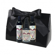 Simply Radiant Beauty Organic Skin Care Bath & Body Valentines Gift Set- includes 60ml Mini Coconut Milk Lotion, Body Wash & Hand Sanitizer